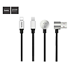 Кабель Hoco U18 Golden hat multi 2 в 1 Micro USB plus Lightning длина 1.2м...