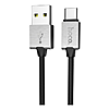 Кабель Hoco U49 Refined steel USB Type-C 2.4А 1.2м черный