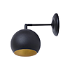 Светильник бра Atmolight chime Bowl W150 BlackMGold Е27 металл...