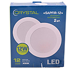 Cветильник TM Crystal LED SAPFIR-12W DNL-003 врезной круг d170мм алюминий 4000К...