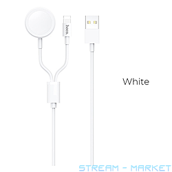 Кабель Hoco U69 2 в 1 Charging cable Lightning plus Watch длина 1.2м...