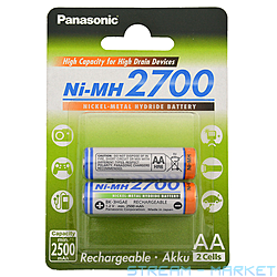 Аккумулятор Panasonic HIGH Capacity R6AA 2700mAh 2 шт