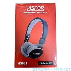 Наушники Bluetooth Aspor MS881